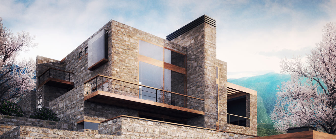 architectural design, residence, house building